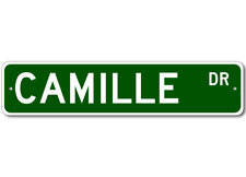 CAMILLE Street Sign - Personalized Last Name Signs