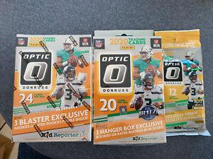 🏈2020 Panini Optic Donruss Football BLASTER Box + HANGER BOX + FATPACK LOT 🏈