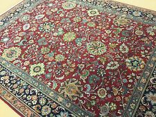 8 X 10 Red Blue Sarouk Persian Oriental Area Rug Hand Knotted All Over Floral