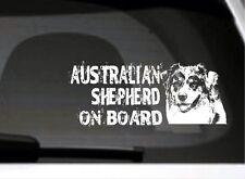 Australian Shepherd On Board Auto-Aufkleber, High Detail Geschenk Hundeliebhaber