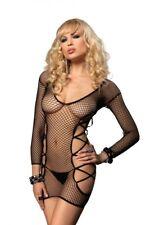 Leg Avenue Black Net Micro Mini Dress Sexy Lingerie One Size UK 6-12
