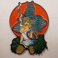 Brand New - Marijuana Pot Bad Hp088 Alice & Caterpillar Hookah - Hat Pin -