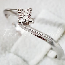 Anello Solitario Valentino Diamante Naturale  0,07 ct Oro 18 kt Fidanzamento