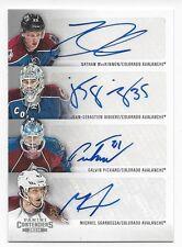 2013-14 Panini autographed hockey card Nathan McKinnon +3 Colorado Avalanche