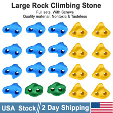 Large Hand Climbing Rock Holds W. Nuts Kids Children Home Wall Xmas Gift