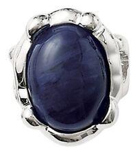 4M Lia Sophia Jewelry Denim Ring in Navy Blue Silver Rhodium SZ 10