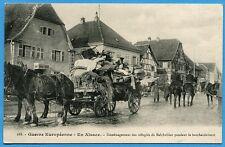 CPA: Déménagement des réfugiés de Balchviller / Guerre 14-18
