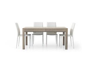Table 1560 Oak Grey Extensible CMS 160x90x76H Closed