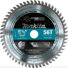 Makita 6.5 in 56 Teeth Circular Saw Blade Aluminum Cutting Power Tool Accessory