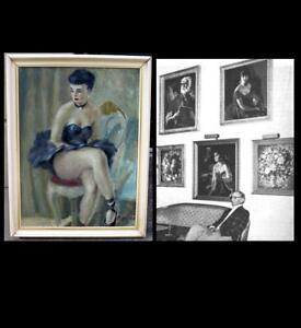 Knud Hougart ( Danish/ American, 1911)  Seated Ballerina. Fine large Salon oil.