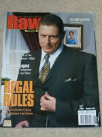 WWE MAGAZINE RAW AUGUST 2001 WRESTLING WILLIAM REGAL COVER WWF