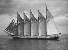 1903 The James Pierce, Beautiful Ship, Sailing, 20x14 Photo (antique wall deco)
