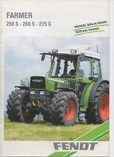 Prospectus, brochure tracteur Fendt 250S 260S 275S