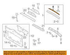 PORSCHE OEM 06-12 Cayman Liftgate Tailgate Hatch-Wedge 98751289901