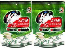 2 BAGS White Rabbit Matcha Green Tea Creamy Milk Chewy Candy 32 pcs Chinese