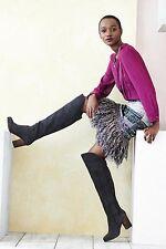 NWT ANTHROPOLOGIE Cecilia Prado GLINTED FRINGE Sweater Skirt sz XSP XS Petite