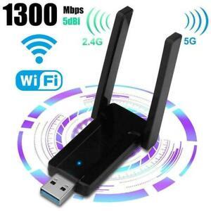 1300 Mbit / s 2,4 G / 5 G Dualband USB 3.0 WiFi-Adapter für Desktop mit E0X3