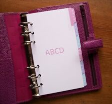 PERSONAL Size A-Z Address DIVIDERS 'Pastel' #711 Fits Filofax - 6 Tabs