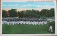 Annapolis, MD 1930s Postcard: Dress Parade - Maryland