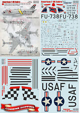 """Print Scale 32-018 """" Wet Decals for American F-86 Sabre, Part-2 """" Decal 1/32"""