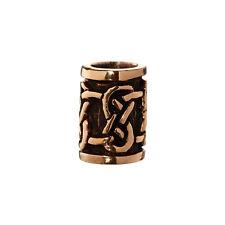 Haarperle Bartperle DVALIN Keltischer Knoten Bronze Lockenperle 6402