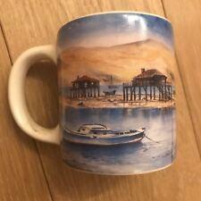 Ancienne Tasse - Mug - Paysage Port de pêche - Dune et sable - Made in France