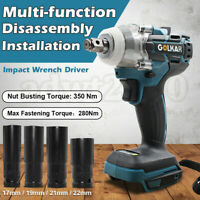 18V 350N Li-Ion Cordless 1/2'' Impact Wrench Driver Replace Makita DTW285Z Body