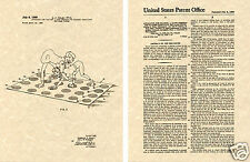 Twister Game US Patent Art Print READY TO FRAME!!!! Vintage 1969 spin color mat