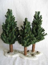 DEPT 56 - SPRUCE TREE FOREST - Excellent - Set of 4 - #52485 - No Box