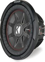 "KICKER 43CWRT102 10"" COMP RT THIN DUAL VOICE COIL 2 OHM SUBWOOFER"