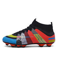 Professional Outdoor Football Cleats Ankle Top AG Boots Men's Sports Shoes