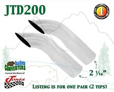 "JTD200 PAIR 2"" Chrome Turn Down Exhaust Tips 2 1/2"" 2.5"" Outlet / 9"" Long"