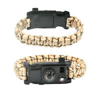 10IN1 Outdoor Emergency Survival Paracord Bracelet Gear Compass Thermometer N6