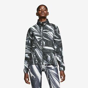 Nike Women's Medium Shield Flash Reflective Black Running Jacket BV4387-010