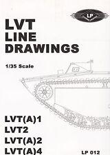 23819/ LP012 - Line Drawings - LVT(A) 1; LVT 2; LVT(A) 2; LVT(A) 4 - 1/35