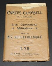 HIGH GRADE 1928 Campbell's Map-Guides ENVELOPE France No 2  North Belgium Carte