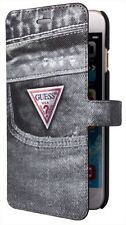 Guess Denim Booktype Case for iPhone 6 / 6s (4.7 inch) Black Jeans 02