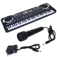 61 Keys Digital Music Electronic Keyboard & Microphone Electric Piano Organ DI