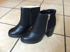 New Look Zip Patternless 100% Leather Boots for Women