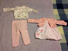 Baby M&Co Prink Top and Bottom Set and Dress - 0-3 Months