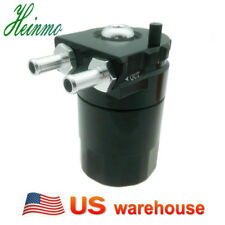 Aluminum Oil Catch Can Baffled Reservoir Breather Tank w/Fittings Solid Kit USA