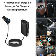 4-Port Multi USB Passenger Car Charger Front/Back Seat Adapter for Phone GPS