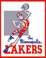 Minneapolis Lakers Logo Poster, 8x10 Color Photo