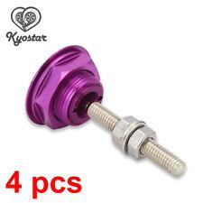 Universal Racing Bonnet Hood Pin Quick Release Pins Lock Alloy Bonnet Hood 4 Pcs