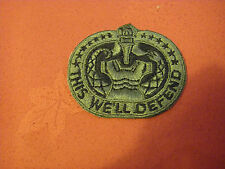 WW2? U S Army Drill Sergeants? Embroidered Patch – This We'll Defend