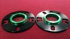 5mm PAIR Black Hub Centric 64.1mm 4 / 5 hole Spacers Honda Civic CRZ DC2 EP3 FN2