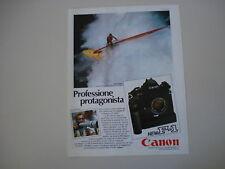 advertising Pubblicità 1985 CANON F-1 e ROBBY NAISH