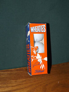 TIGER WOODS AND WHEATIES PROMO, SET OF THREE TITLEIST ONE GOLF BALLS IN BOX