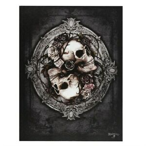 DIOSCURI ALCHEMY GOTHIC LONDON SMALL CANVAS PICTURE ART PRINT SKULLS ROSES
