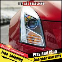 For Cadillac ATS Headlights assembly Bi-Xenon Lens Double Beam HID KIT 2013-2018
